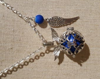 Necklace / necklace / pregnancy's Bola Mexican blue wing