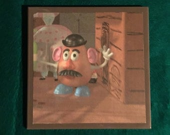 toy story ceramic tile wall art mr potatoe head  woody buzz light year approx. 6 x 6