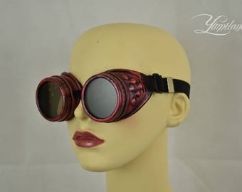 Red Steampunk Goggles | Cosplay goggles | Steampunk | Cosplay