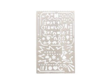 Metal Drawing Stencil, Drawing Ruler - PJ110