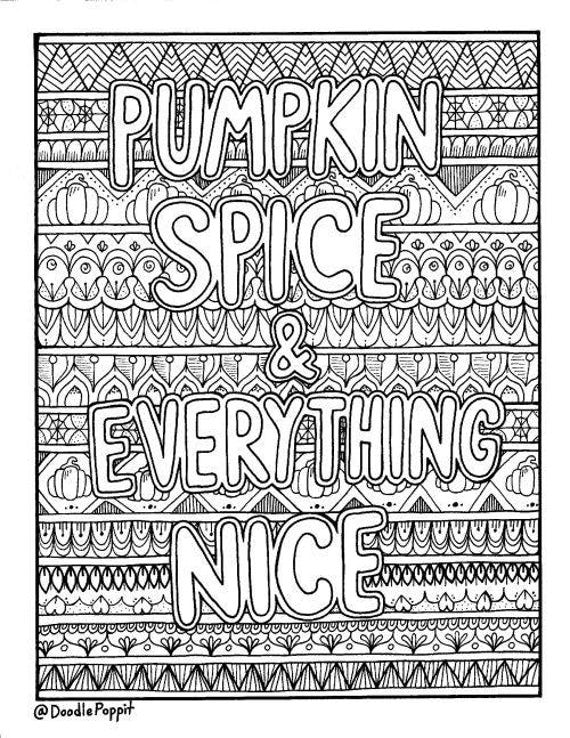 everything etsy coloring pages - pumpkin spice everything nice coloring page coloring book