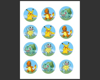 Pokemon Themed Cupcake Toppers
