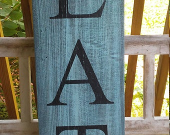 EAT Sign, Kitchen Decor, Dining Room, Farmhouse Decor, Rustic, Distressed, Primitive, Cottage Decor, Gifts Under 50 40 30, Fixer Upper Style