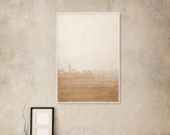 Abstract, Sepia and White, Ink, Painting, Extra large, Painting, Ink painting, Minimalistic, Original, Minimalism, Modern, Art, x large