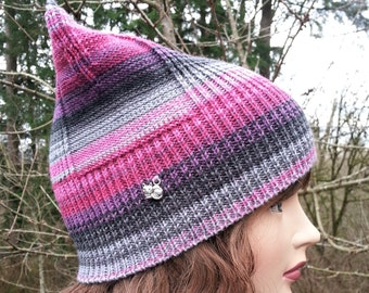 Gray, Black, Burgundy, Pink Pussyhat Hat. Pussyhat Project. Multicolored Pussyhat. Pink cat beanie. Gift for her.