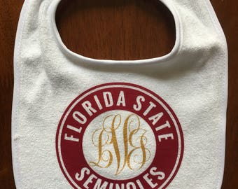 Personalized Florida state bib
