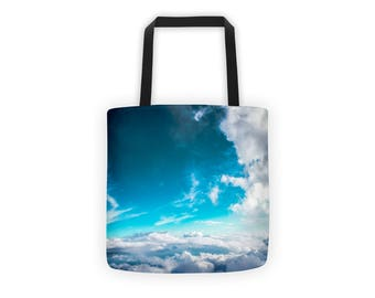 Blue Sky Tote   Beach Bag   Shopping Tote   Weather Resistant   Book Bag   Clouds   Nature Photography   Shopping Bag   Waterproof Tote