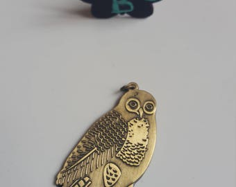 The large raw color OWL pendant