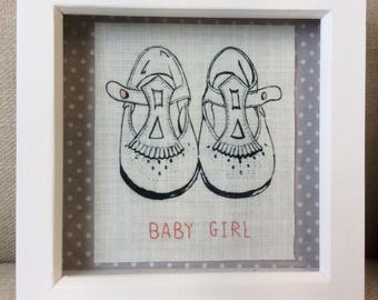 Hand Embroidered Baby Girl's Shoes