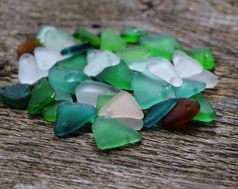 Multicolored sea glass drilled sea glass pink sea glass brown sea glass teal sea glass aqua seaglass jewelry maker christmas decorations
