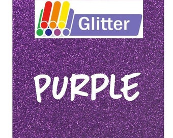 Siser Glitter Heat Transfer Vinyl - Iron On - HTV - Purple