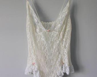 Vintage lingerie babydoll body suit
