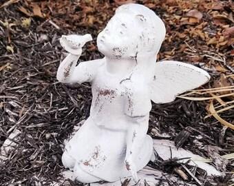 Fairy, Fairies, Fairy Garden, Fairy Decor, Fairy Figurine, Fairy Statue, Garden Fairy Decor, Garden Statue, Fairy Doll, Cast Iron Fairy