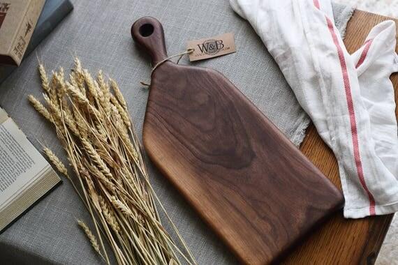 the Baker   Walnut bread board, cheese board, cutting board, serving board