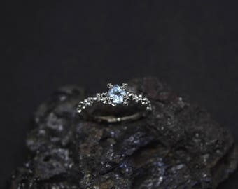 Mimosa - handmade sterling silver ring