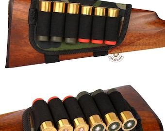 Buttstock Cartridge Holder, Cartridge Holder Butt Cover, Rifle Butt Shell Holder Case Padded Cheek Rest