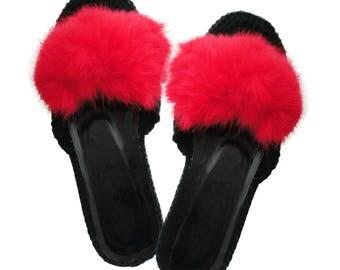 Pompon crochet slippers , outdoor shoes, Women slippers,  Crochet  Shoes