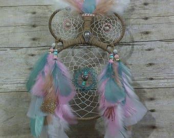 Tan Owl Dream Catcher