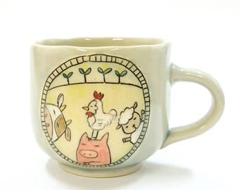 Mug: Animals at the farm