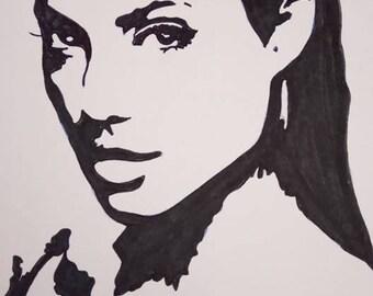 drawing Angelina jolie