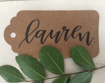 gift tags, personalized gift tags, name tags, calligraphy name tags, custom name tags, customized gift tags, bridesmaids gift tags, gift tag