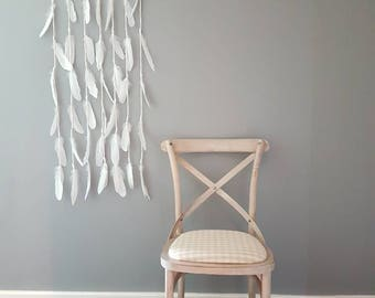 Feather wall art large / shabby chic decor / original wall hanging / bohemian / nautical nursery