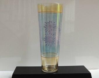 60u0027s Lustre Glass Vase, Atomic Vase, Boho Decor, Mid Century Vase, Urban