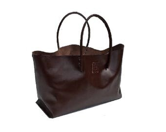 large leather bag XXL shopper Ledershopper Brown handmade