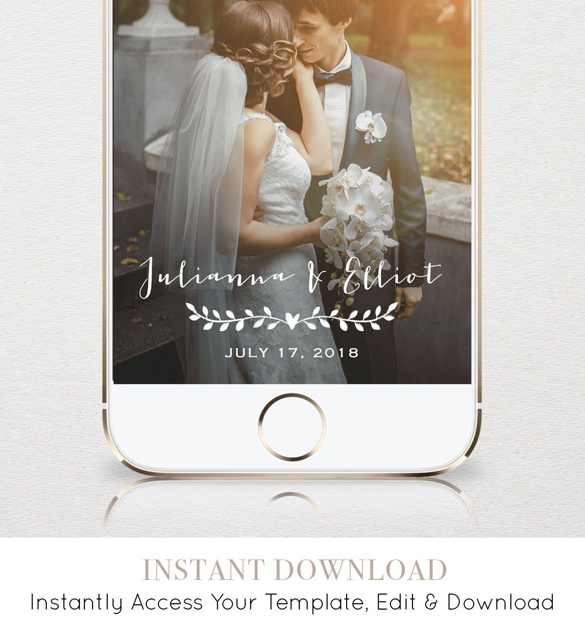 wedding snapchat geofilter custom geofilter rustic snapchat filter 100 editable template. Black Bedroom Furniture Sets. Home Design Ideas