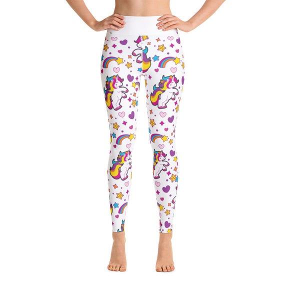 Unicorn Yoga Pants Yoga Leggings Yoga Pants Cute Yoga