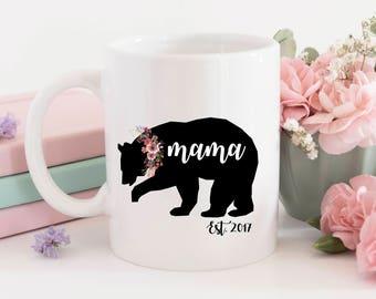 One single (1) Sublimation Mama Bear mug, mother's day, soon to be mom, mom gift, x-mas gift, christmas mug, funny mug, customization mug