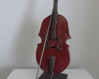 Raku ceramic cello