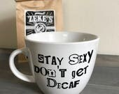 Murdurino Coffee Mug- My Favorite Murder Mug - SSDGM Coffee  Mug -Stay Sexy Don't Get Decaf Mug - Podcast Gift