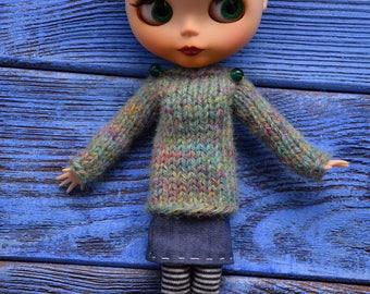 Blythe sweater Blythe outfit  Blythe doll clothes Blythe jumper Blythe new Year Blythe Christmas Blythe gift sweater Blythe Blythe Pullover