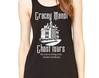 Gracey Manor Ghost Tours Disney Haunted Mansion tank Disney Halloween Tank Disneyland Shirt Disney World Shirt Magic Kingdom shirt
