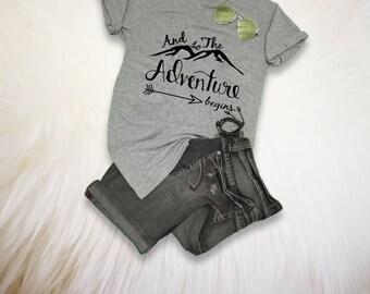 Adventure Shirt TShirt Men Gift for him Womens Hiking Shirt Camping Shirt Travel TShirt Mountain Shirt Gift for her