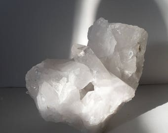 XL clear quartz cluster