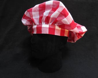 Picnic Red White Velcro Chef Hat
