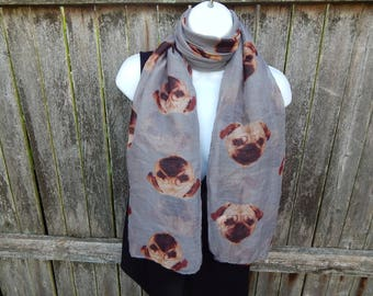 Pug Fashion Scarf