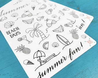 Summer Doodle Stickers