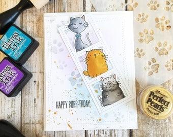 Cat Birthday Card, Handmade Birthday Card, Birthday Card for Cat Lover, Cat Card, Birthday Card