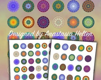 25mm and 30mm PRINTABLE Mandala images