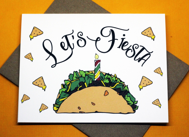 Let s Fiesta Taco Nacho Cute Funny Happy Birthday Mexican