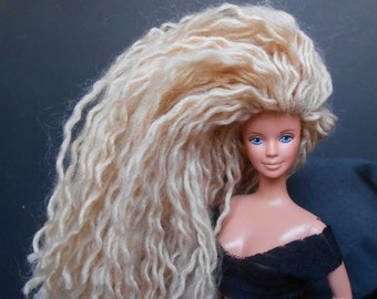 Ooak Barbie Mackie Face with Yarn Hair