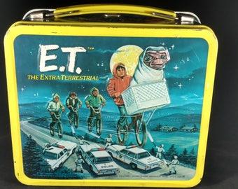 E.T. original lunch box w/thermos 1982