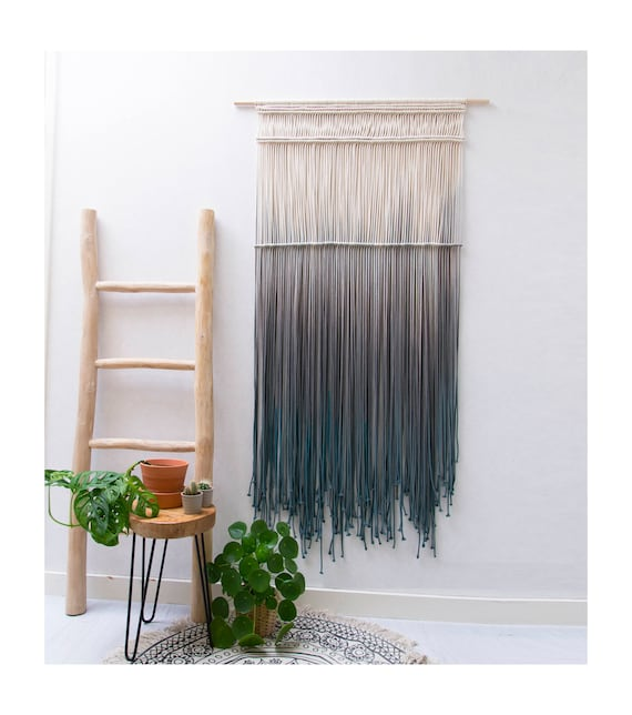 "Large Macrame Wall Hanging  - ""CASCADE - Forest Collection"""