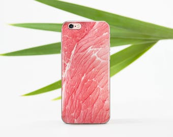 Meat iPhone Case Clear iPhone 7 Case Pink iPhone 6 Case iPhone 5s SE Case iPhone 6s Plus Case iPhone 6 Silicone Case iPhone 6 183