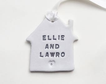 Personalised Housewarming Gift, Custom New Home Present, New House Decoration, Home Ornament, Clay House, Home Sweet Home, Old Flour House