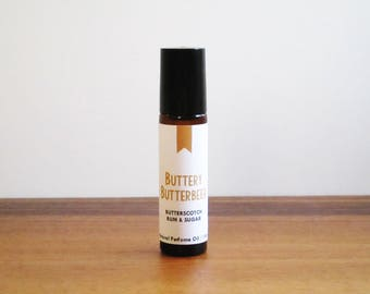 BUTTERY BUTTERBEER / Butterscotch Rum & Sugar / Book Inspired / Harry Potter Collection / Roll-On Perfume Oil