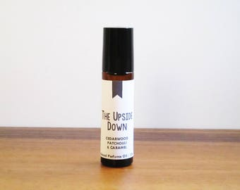 THE UPSIDE DOWN / Cedarwood Patchouli & Caramel / Tv Inspired / Stranger Things / Roll-On Perfume Oil